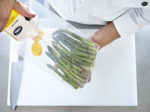 Vacuüm garen van groenten