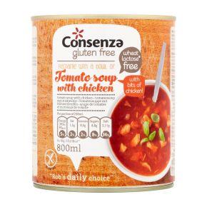 Tomatensoep Met Stukjes Kip product photo
