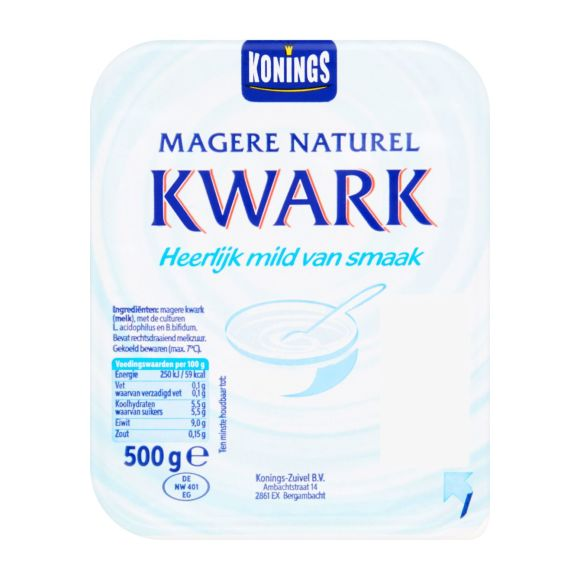 Konings Magere kwark naturel product photo