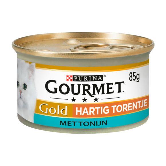 PURINA GOURMET GOLD Nat kattenvoer HARTIG TORENTJE Tonijn 85g Blikje product photo