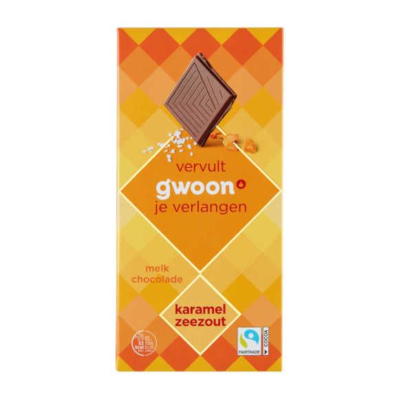 g'woon Chocoladereep karamel zeezout product photo