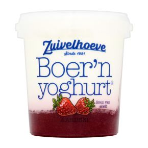 Zuivelhoeve Boer'n yoghurt aardbei product photo