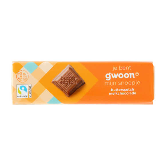 g'woon Chocoladereep butterscotch product photo
