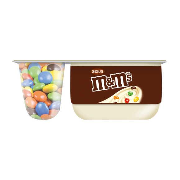 Danone M&M's yoghurt vanille product photo