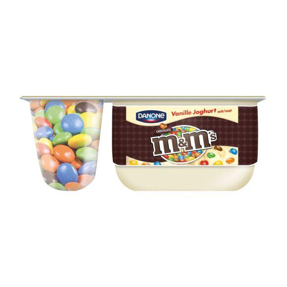 Danone M&M yoghurt product photo