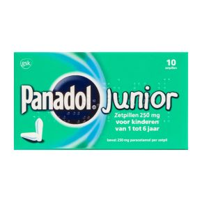 Panadol Junior zetpillen 250 mg product photo