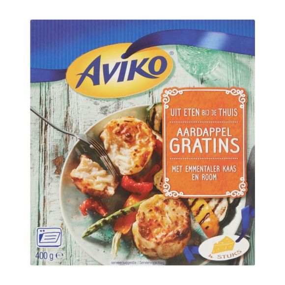 Aviko Aardappel gratins emmentaler kaas & room product photo