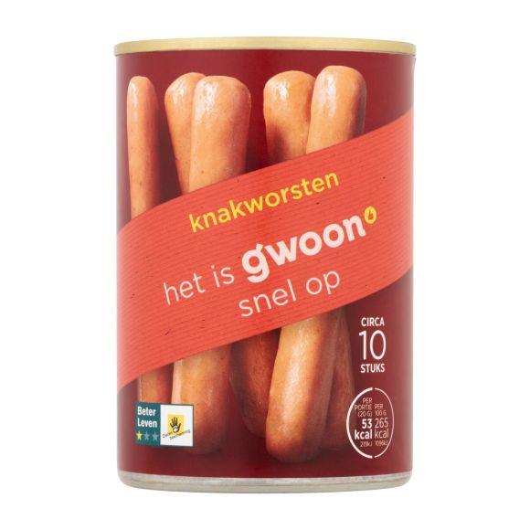 g'woon Knakworst in blik product photo