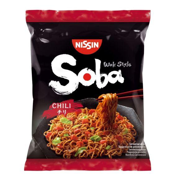 Nissin Soba noodles chili product photo