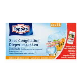 Toppits® Diepvrieszakje 1 Liter 40 stuks product photo