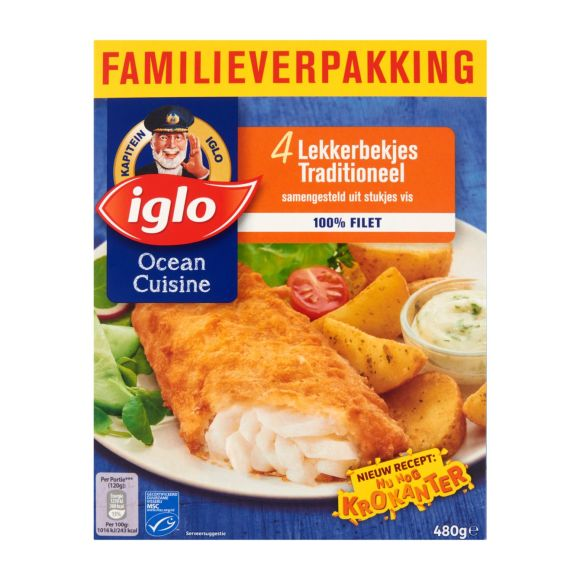 Iglo Lekkerbekjes Traditioneel Familieverpakking 4st product photo
