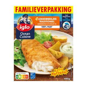 Iglo Lekkerbekjes Traditioneel Familieverpakking 4st product photo