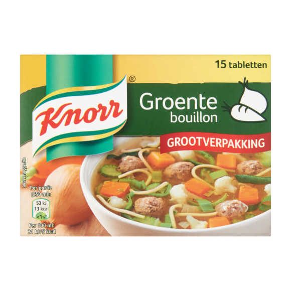 Knorr Bouillon groente product photo