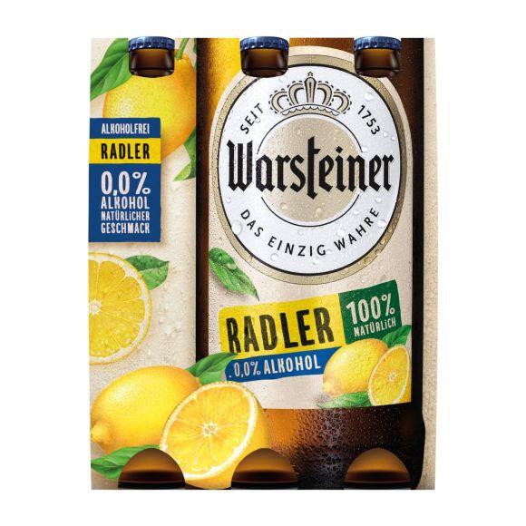 Warsteiner Radler 0.0% citroen bier fles 6 x 33 cl product photo