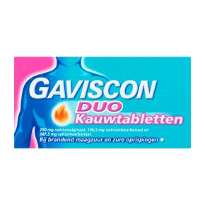 Gaviscon Duo Kauwtabletten product photo