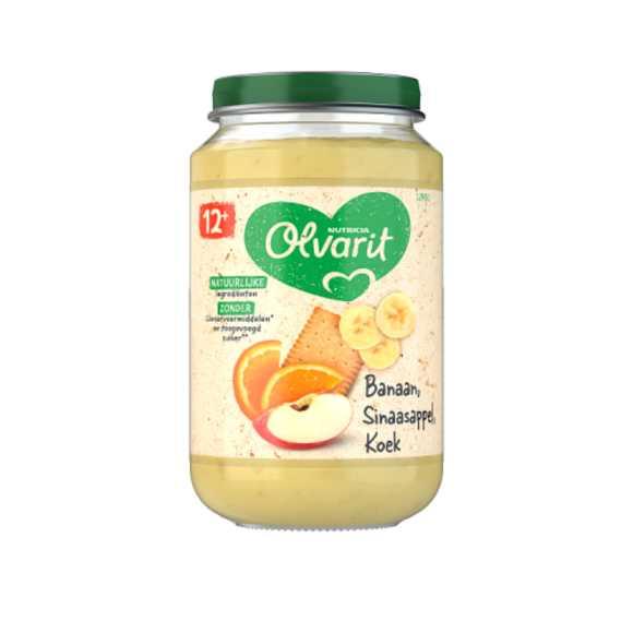 Olvarit Banaan, sinaasappel en koek 12+ maanden product photo