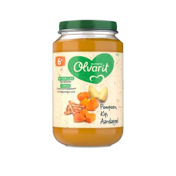 Olvarit Pompoen Kip Aardappel 6+ maanden product photo