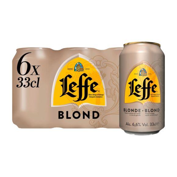 Leffe Blond Belgisch Abdijbier Blikken 6 x 33 cl product photo