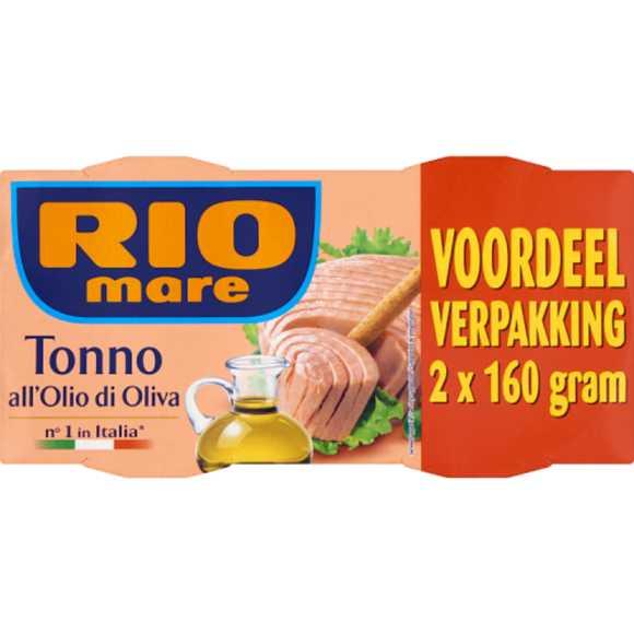 Rio Mare Tonijn olijf olie 2X160 G product photo