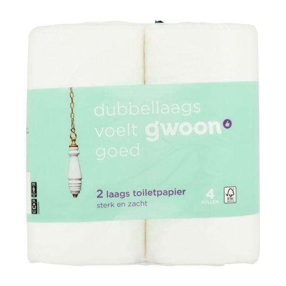 g'woon Toiletpapier 4 rollen 2 laags product photo