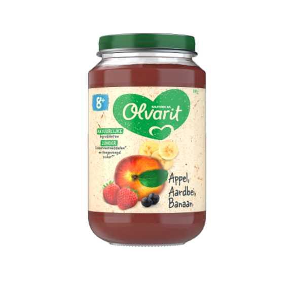 Olvarit Appel aardbei en banaan 8+ maanden product photo