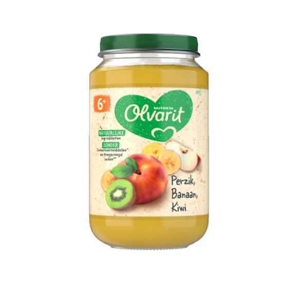 Olvarit Perzik banaan kiwi 6+ maanden product photo