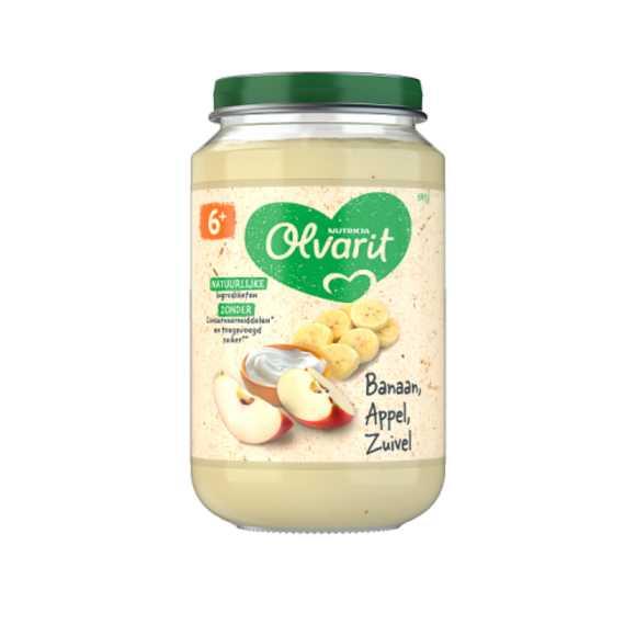 Olvarit Banaan, appel en yoghurt 6+ maanden product photo