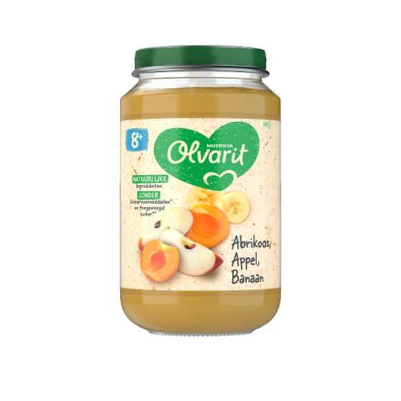 Olvarit Abrikoos, appel en banaan 8+ maanden product photo