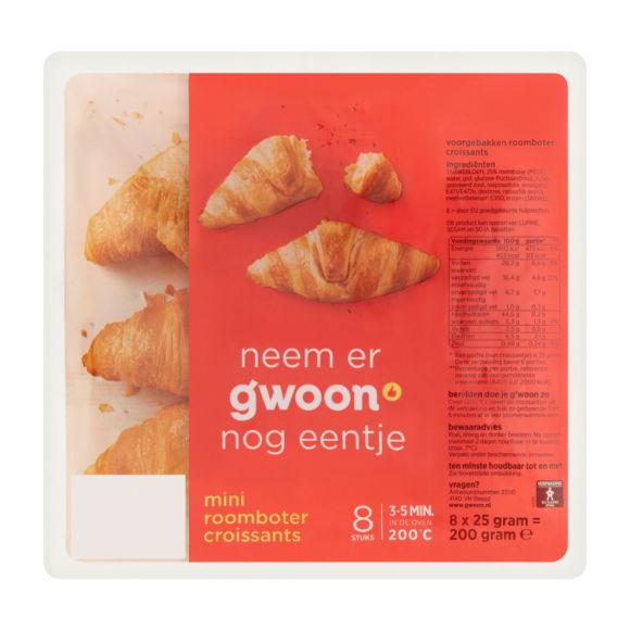 g'woon Mini roomboter croissants product photo