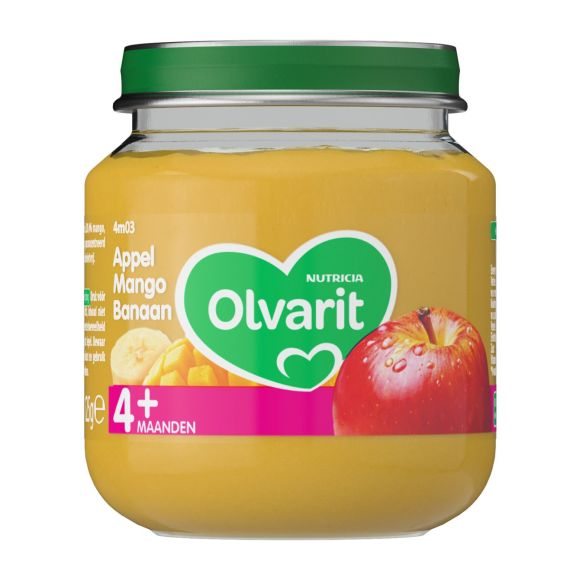 Olvarit Appel, mango en banaan 4+ maanden product photo