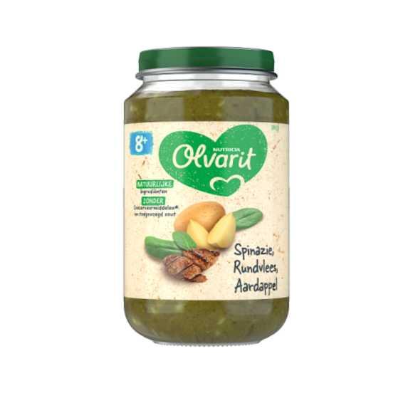 Olvarit Spinazie rundvlees aardappel 8+ maanden product photo