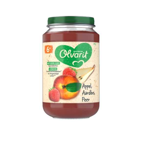 Olvarit Appel aardbei en peer 6+ maanden product photo