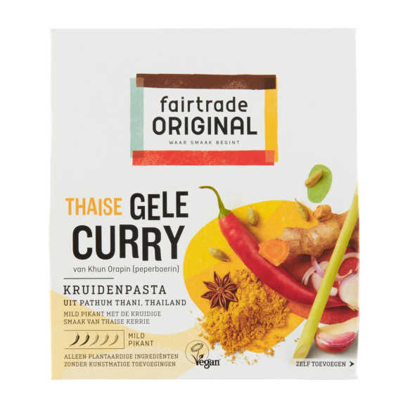 Fairtrade Original gele curry kruidenpasta product photo