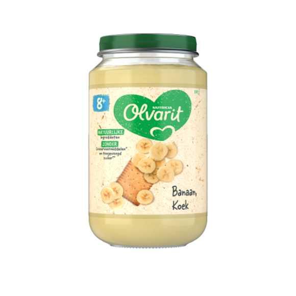 Olvarit Banaan en koek 8+ maanden product photo