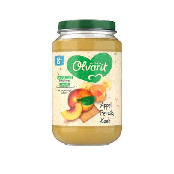 Olvarit Appel perzik en koek 8+ maanden product photo