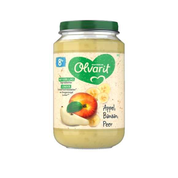 Olvarit Appel banaan en peer 8+ maanden product photo