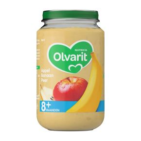 Olvarit Appel, banaan en peer 8+ maanden product photo