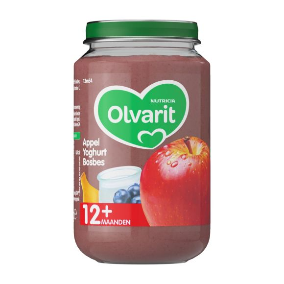 Olvarit Appel, yoghurt en bosbessen 12+ maanden product photo
