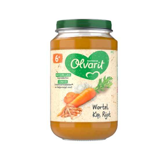 Olvarit Wortel kip rijst 6+ maanden product photo