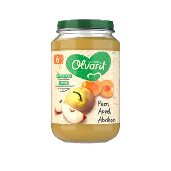 Olvarit Peer appel abrikoos 6+ maanden product photo
