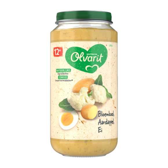Olvarit Bloemkool, aardappel en ei 12+ maanden product photo