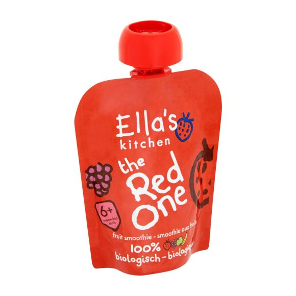 Ella's Kitchen Fruit smoothie the red one 6+ maanden product photo