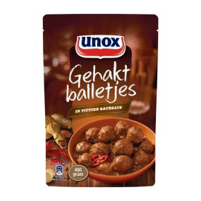 Unox  Pittige Satésaus Gehaktballetjes product photo