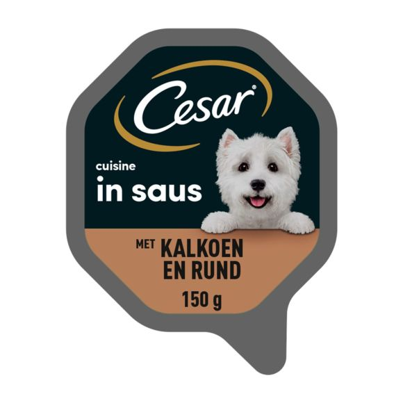 Cesar hondenvoer nat Cuisine kalkoen & rijst product photo