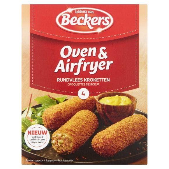 Beckers oven en airfryer rundvlees kroketten product photo