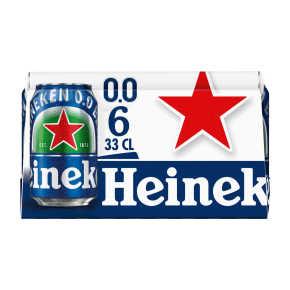 Heineken 0.0 alcoholvrij bier 6x33cl product photo