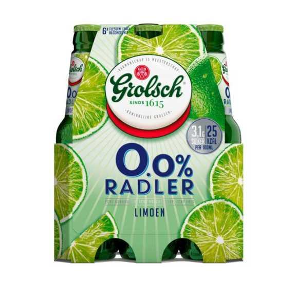 Grolsch Radler 0.0% limoen bier fles 6 x 30 cl product photo