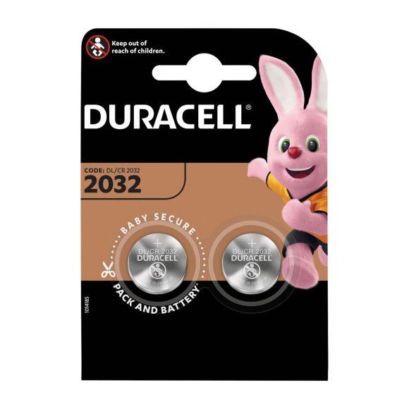 Duracell 2032 knoopcelbatterij, 2 stuks product photo