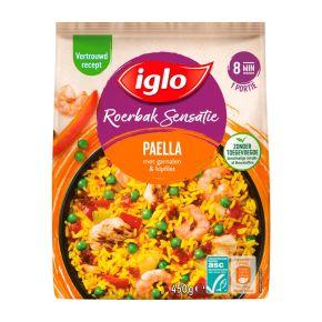 Iglo Roerbaksensatie Paella met Garnalen en Kipfilet product photo