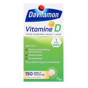 Vitamine D smelttabletten voor kinderen, 150 stuks product photo